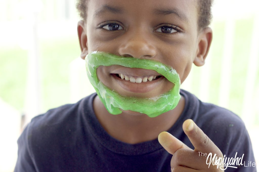 Homeschool Sensory slime activity DIY